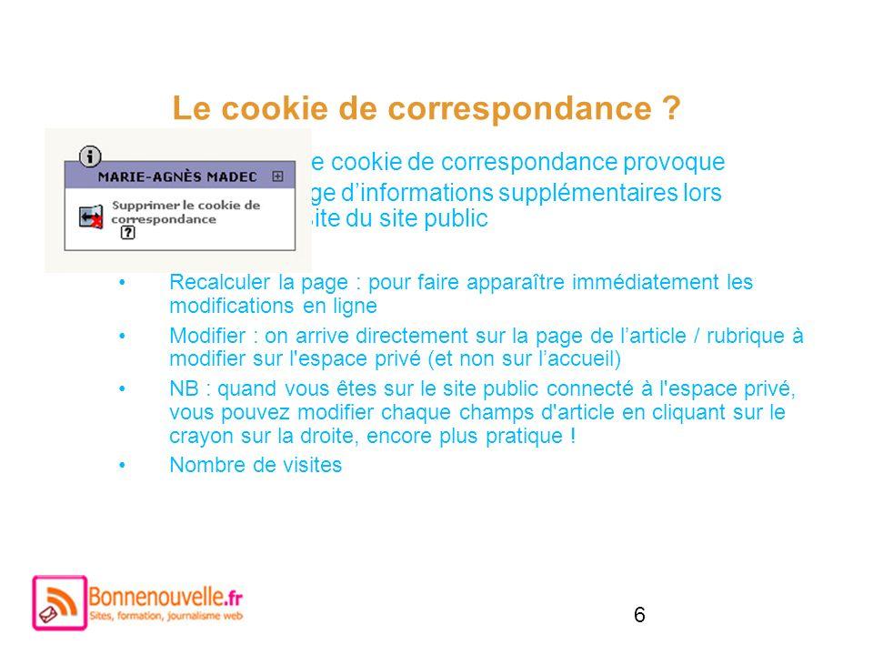 Le cookie de correspondance