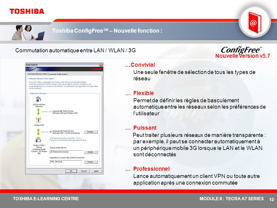 Toshiba ConfigFree™ – Nouvelle fonction :