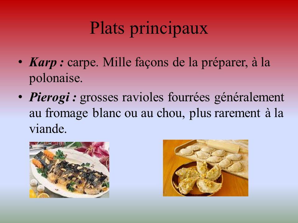 Plats principaux Karp : carpe. Mille façons de la préparer, à la polonaise.