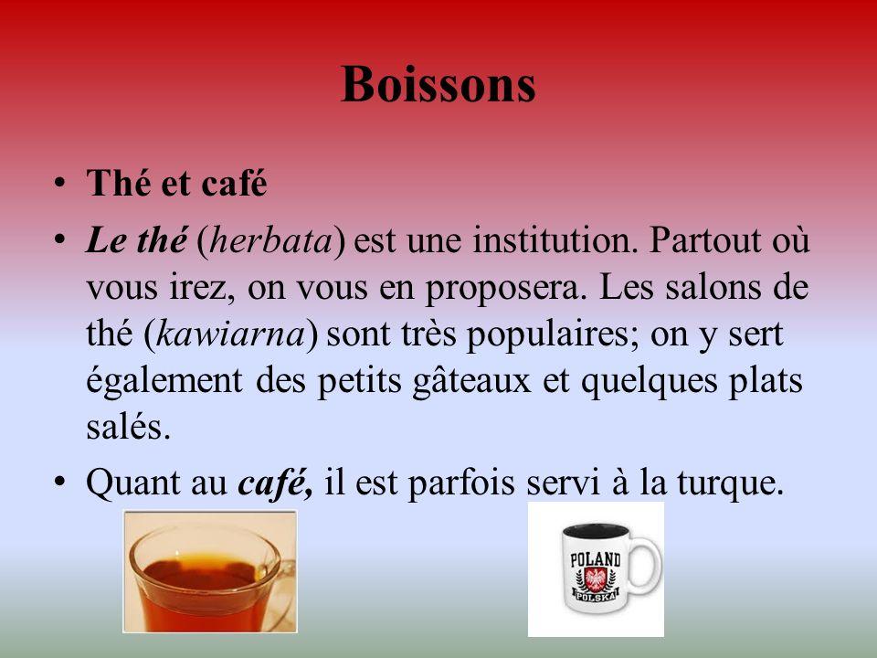 Boissons Thé et café.