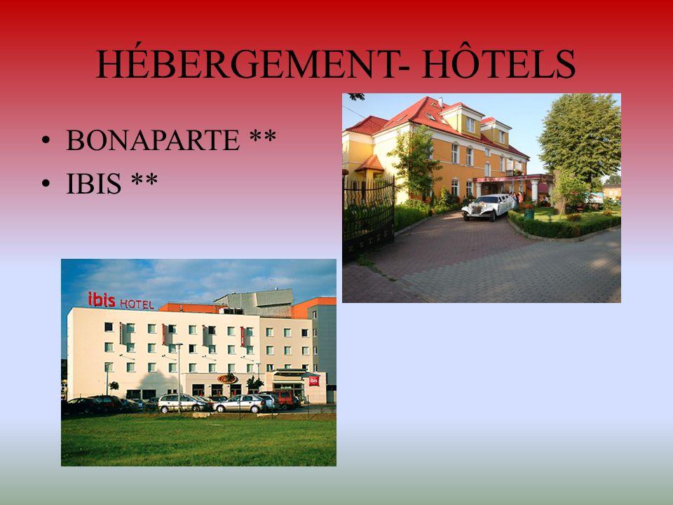 HÉBERGEMENT- HÔTELS BONAPARTE ** IBIS **