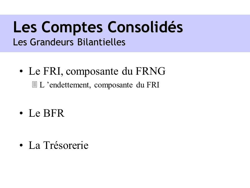 Les Comptes Consolidés Les Grandeurs Bilantielles