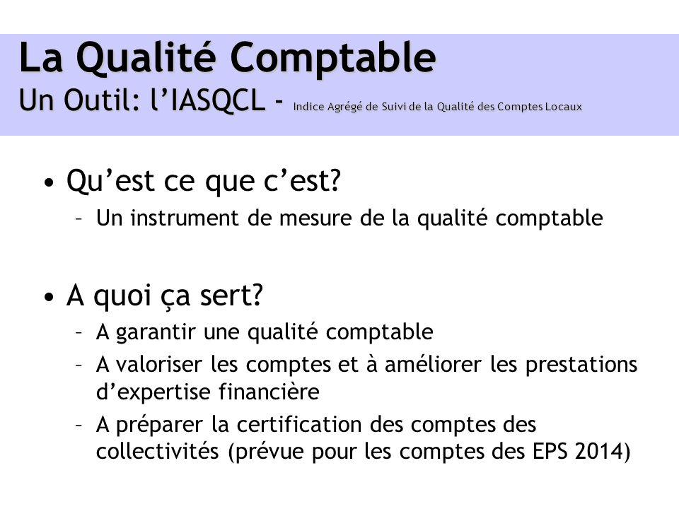 La Qualité Comptable Un Outil: l'IASQCL - Indice Agrégé de Suivi de la Qualité des Comptes Locaux