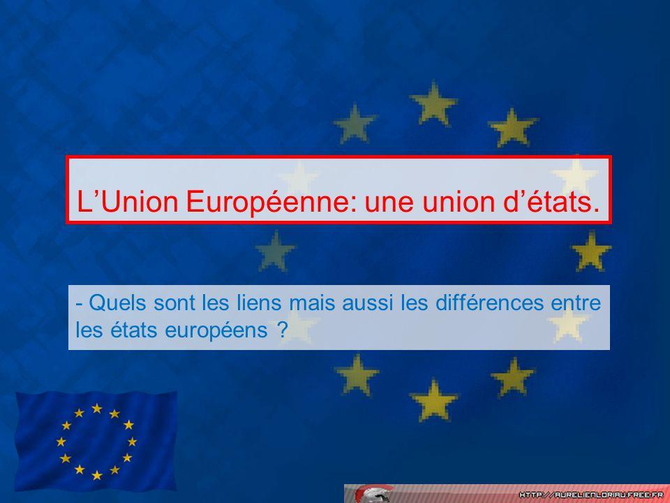 L'Union Européenne: une union d'états.