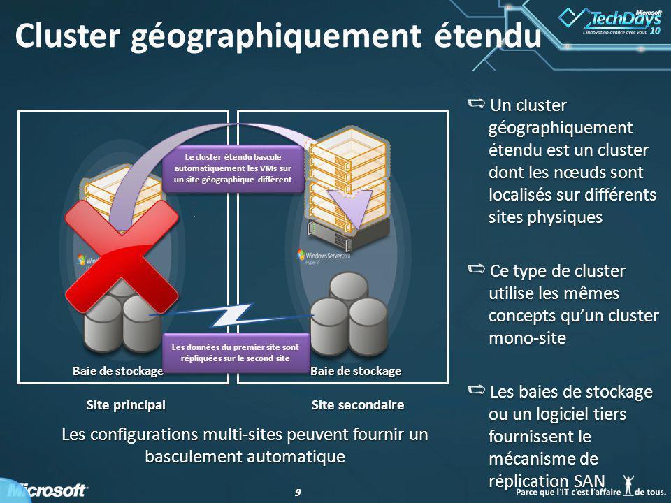 Cluster géographiquement étendu