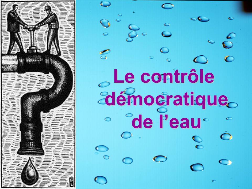 Le contrôle démocratique de l'eau
