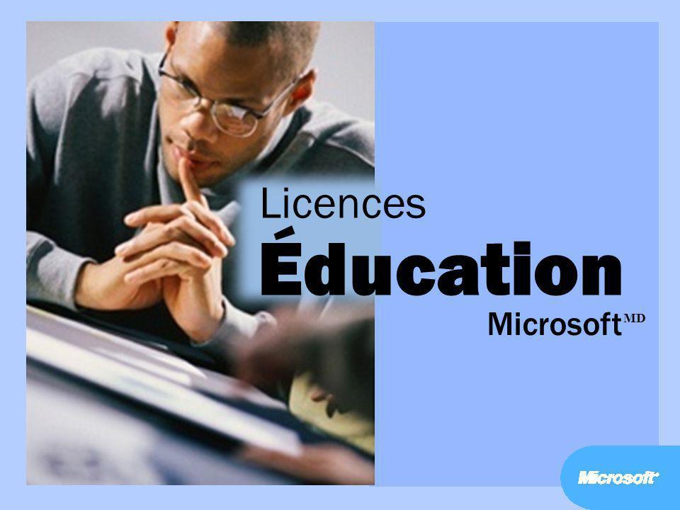 Licences Éducation Microsoft MD