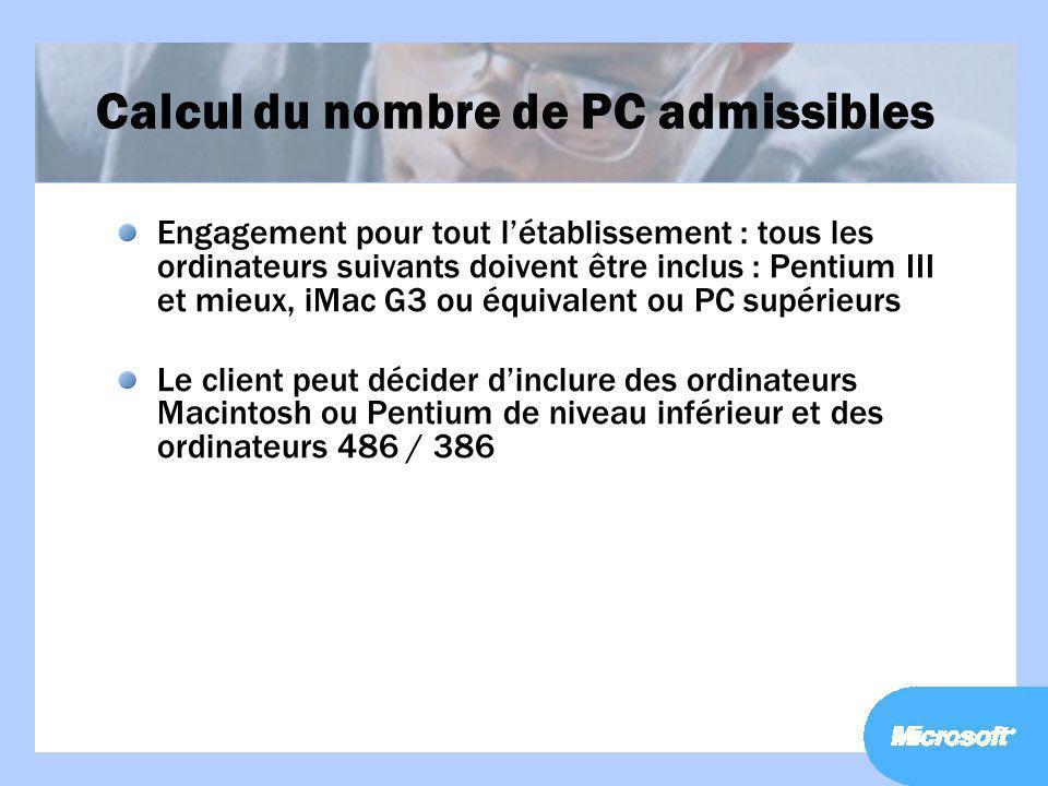 Calcul du nombre de PC admissibles