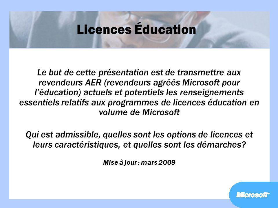 Licences Éducation