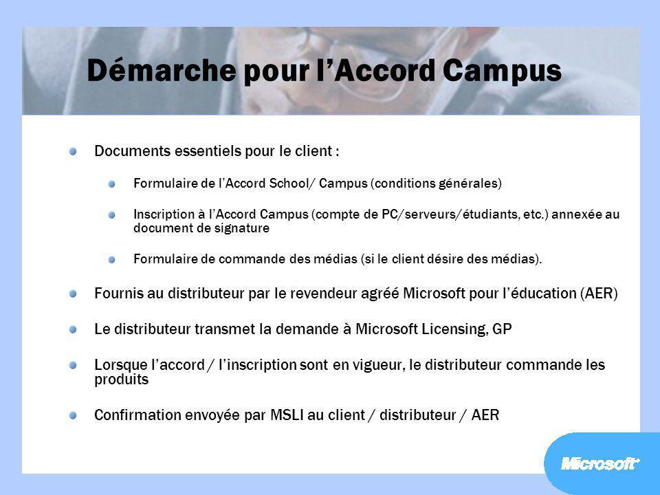 Démarche pour l'Accord Campus