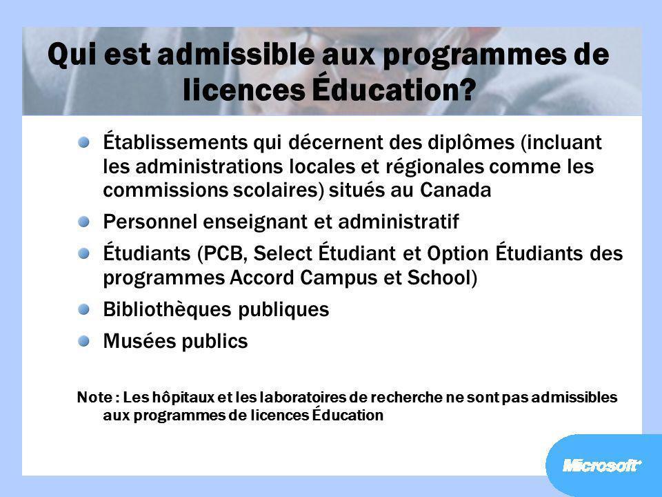 Qui est admissible aux programmes de licences Éducation