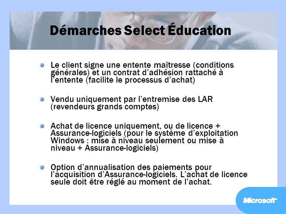 Démarches Select Éducation