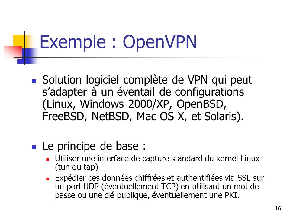 Exemple : OpenVPN