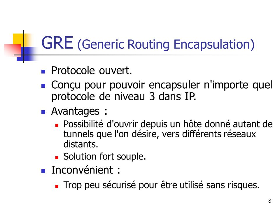 GRE (Generic Routing Encapsulation)