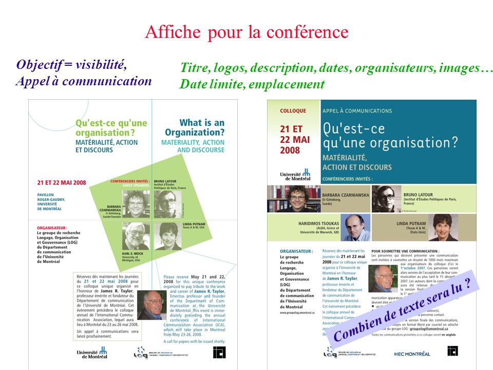 Affiche pour la conférence