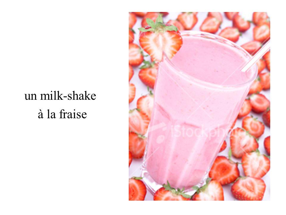 un milk-shake à la fraise