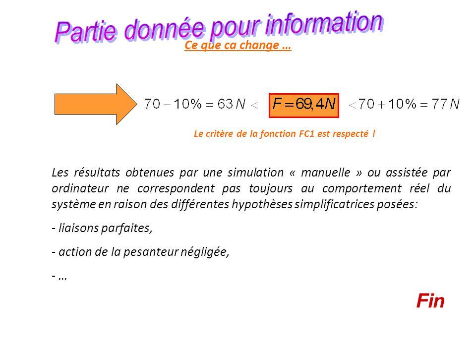 Partie donnée pour information