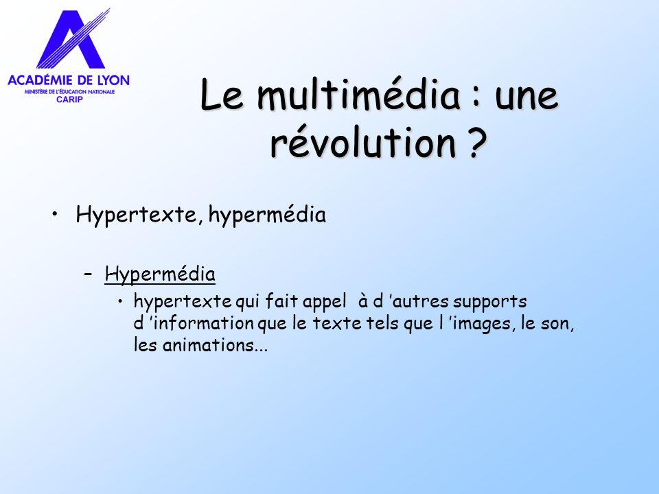 Le multimédia : une révolution