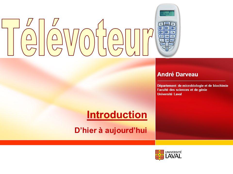 Télévoteur Introduction D'hier à aujourd'hui André Darveau