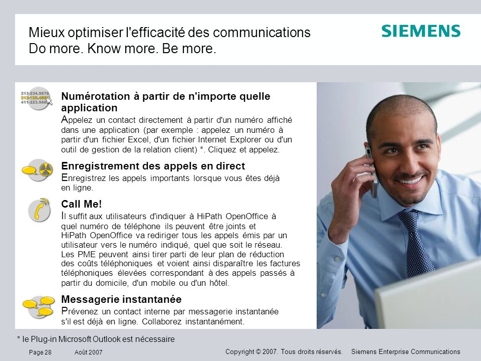 Mieux optimiser l efficacité des communications Do more. Know more