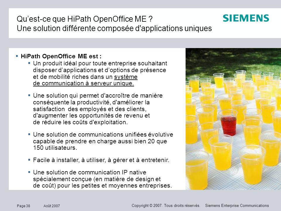 Qu'est-ce que HiPath OpenOffice ME