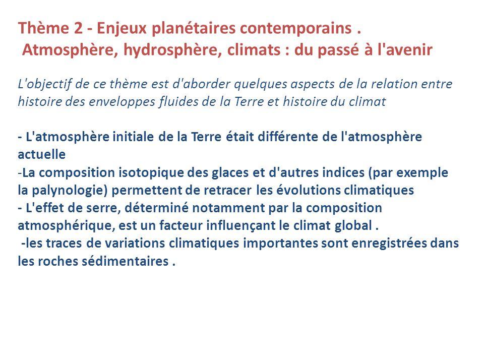 Thème 2 - Enjeux planétaires contemporains .