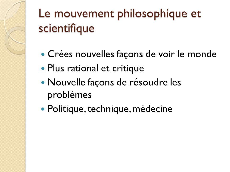 Le mouvement philosophique et scientifique