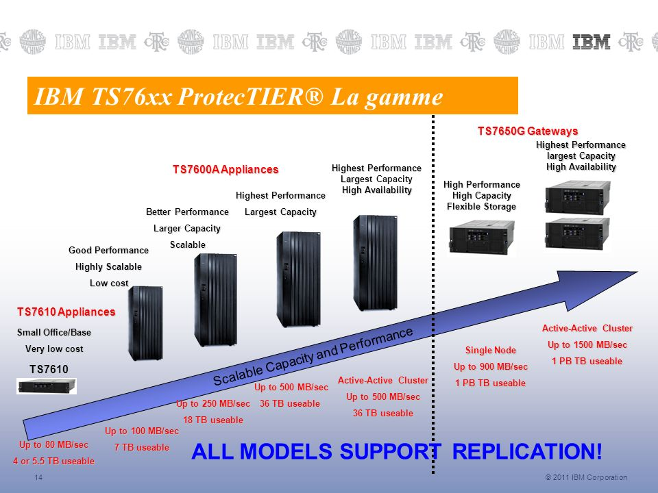 IBM TS76xx ProtecTIER® La gamme