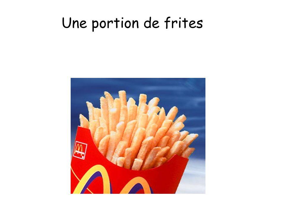 Une portion de frites