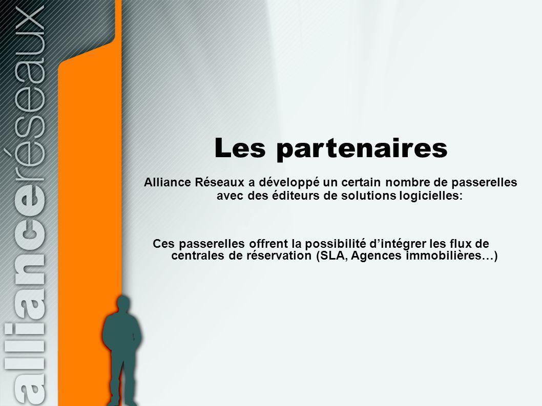 Les partenaires Alliance Réseaux a développé un certain nombre de passerelles avec des éditeurs de solutions logicielles: