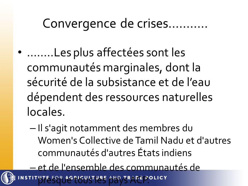 Convergence de crises...........