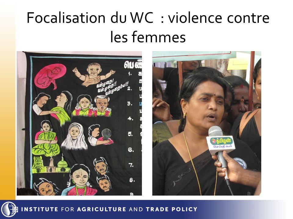 Focalisation du WC : violence contre les femmes