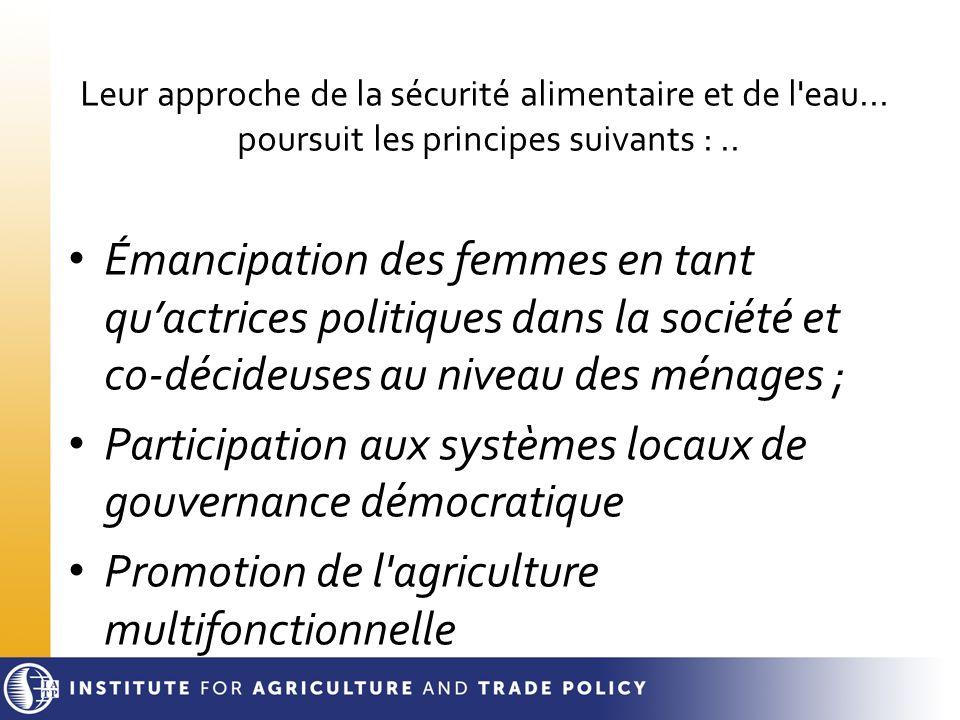 Participation aux systèmes locaux de gouvernance démocratique
