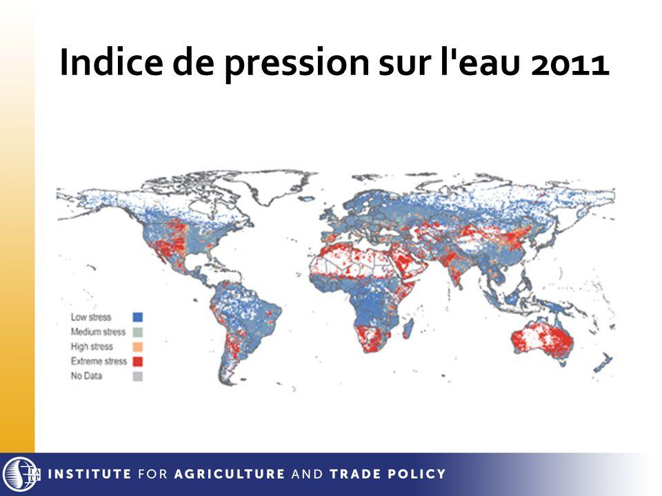 Indice de pression sur l eau 2011
