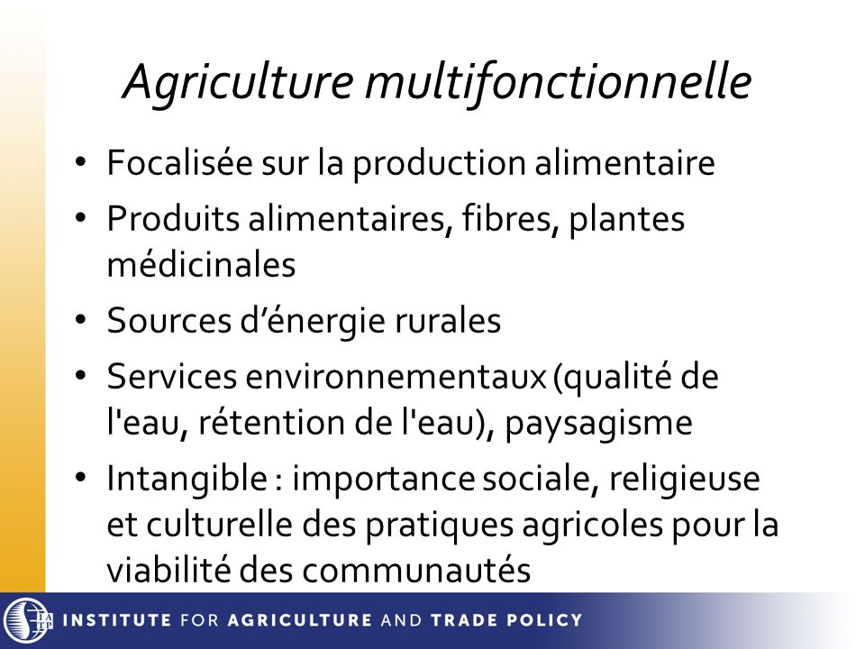 Agriculture multifonctionnelle