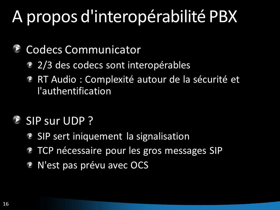 A propos d interopérabilité PBX