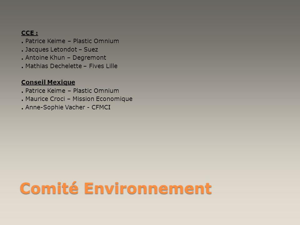Comité Environnement CCE : . Patrice Keime – Plastic Omnium