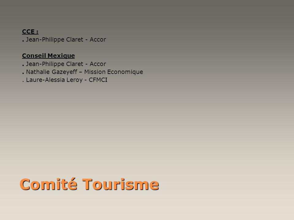 Comité Tourisme CCE : . Jean-Philippe Claret - Accor Conseil Mexique