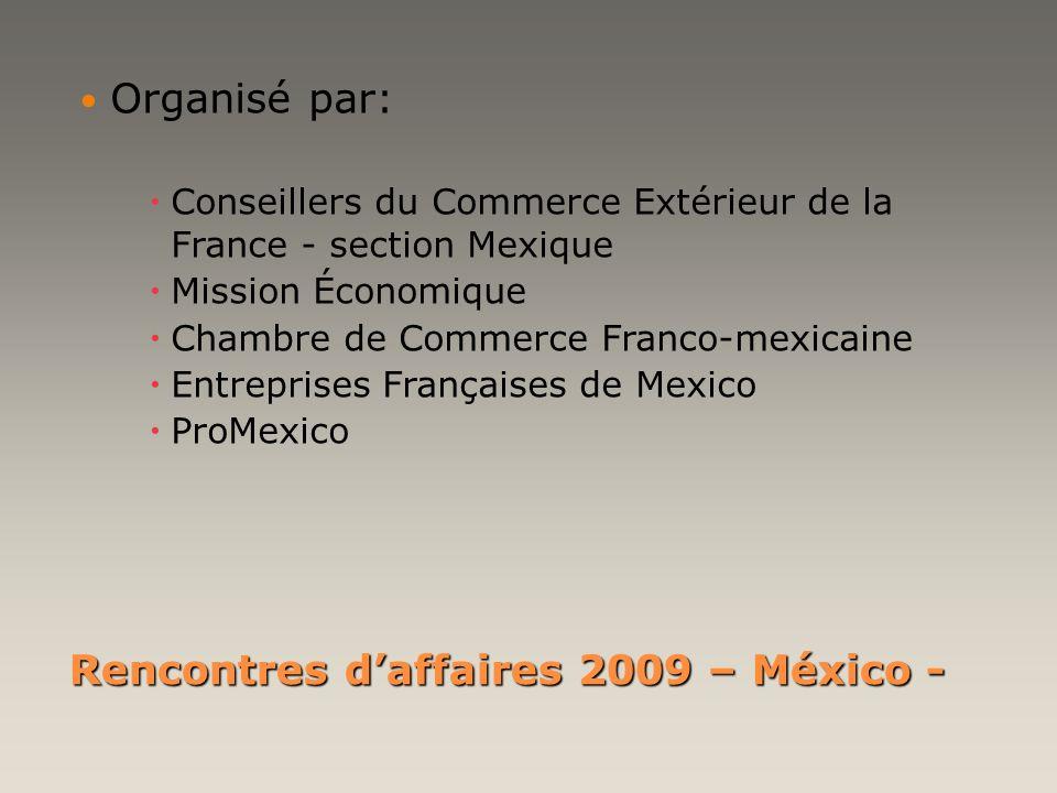 Rencontres d'affaires 2009 – México -