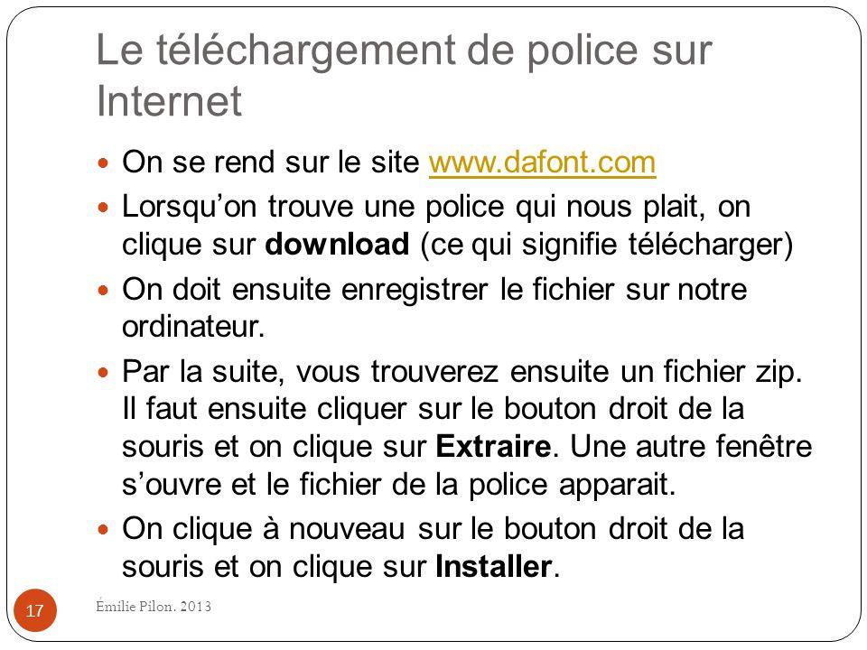 Le téléchargement de police sur Internet