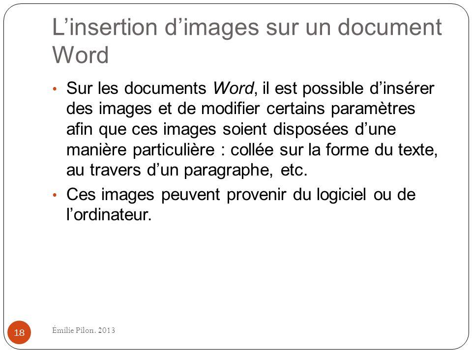 L'insertion d'images sur un document Word