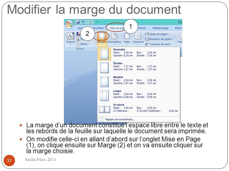 Modifier la marge du document