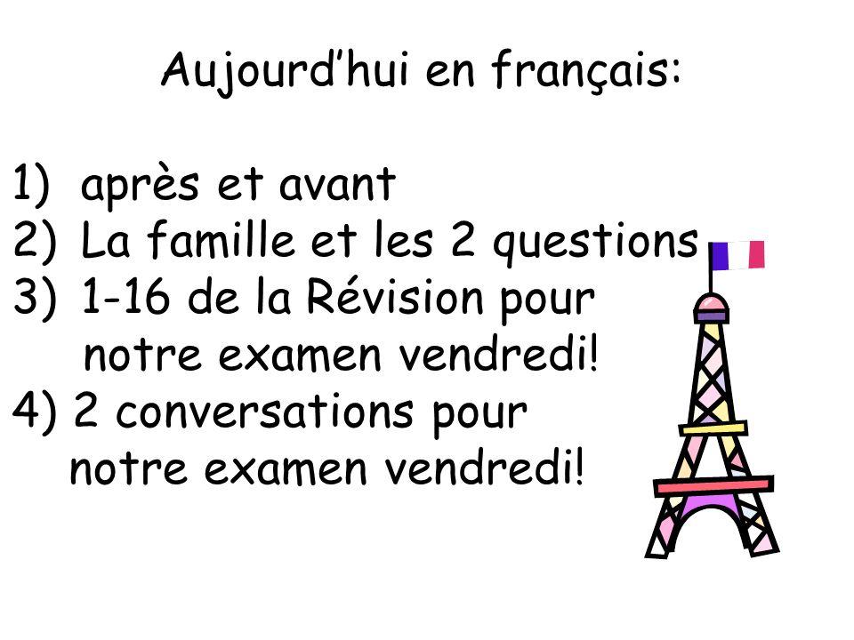 Aujourd'hui en français: