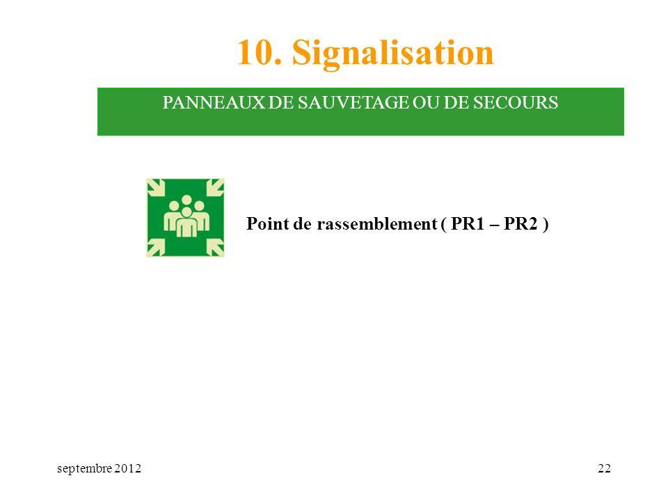 PANNEAUX DE SAUVETAGE OU DE SECOURS