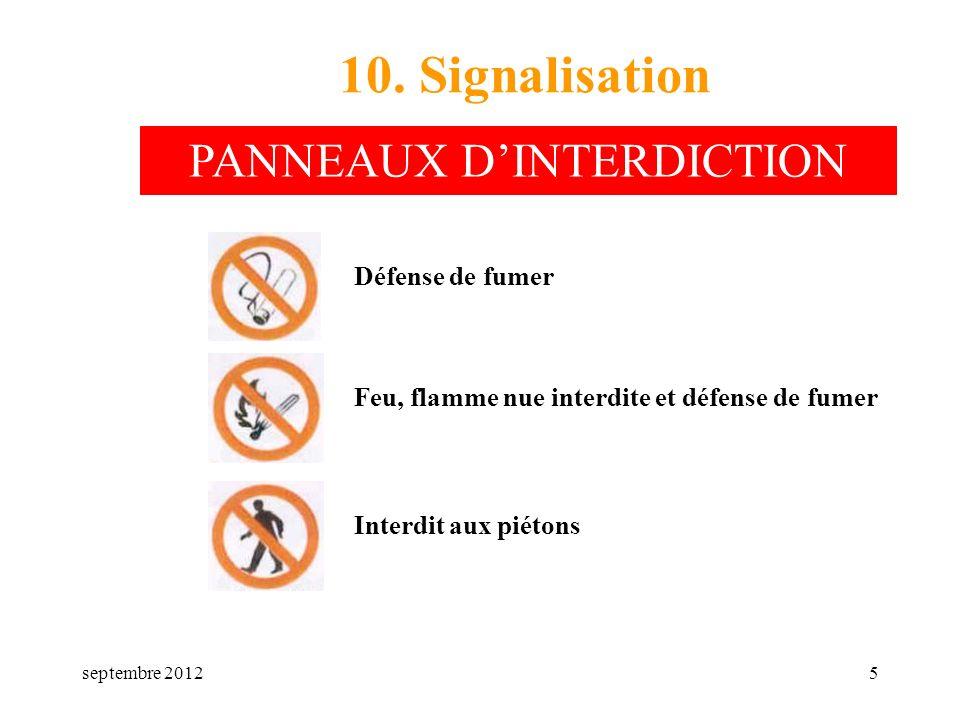 PANNEAUX D'INTERDICTION