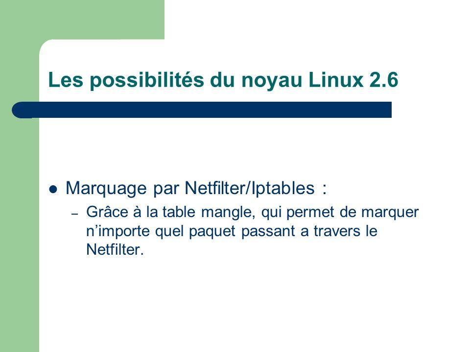 Les possibilités du noyau Linux 2.6