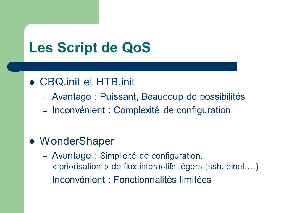 Les Script de QoS CBQ.init et HTB.init WonderShaper