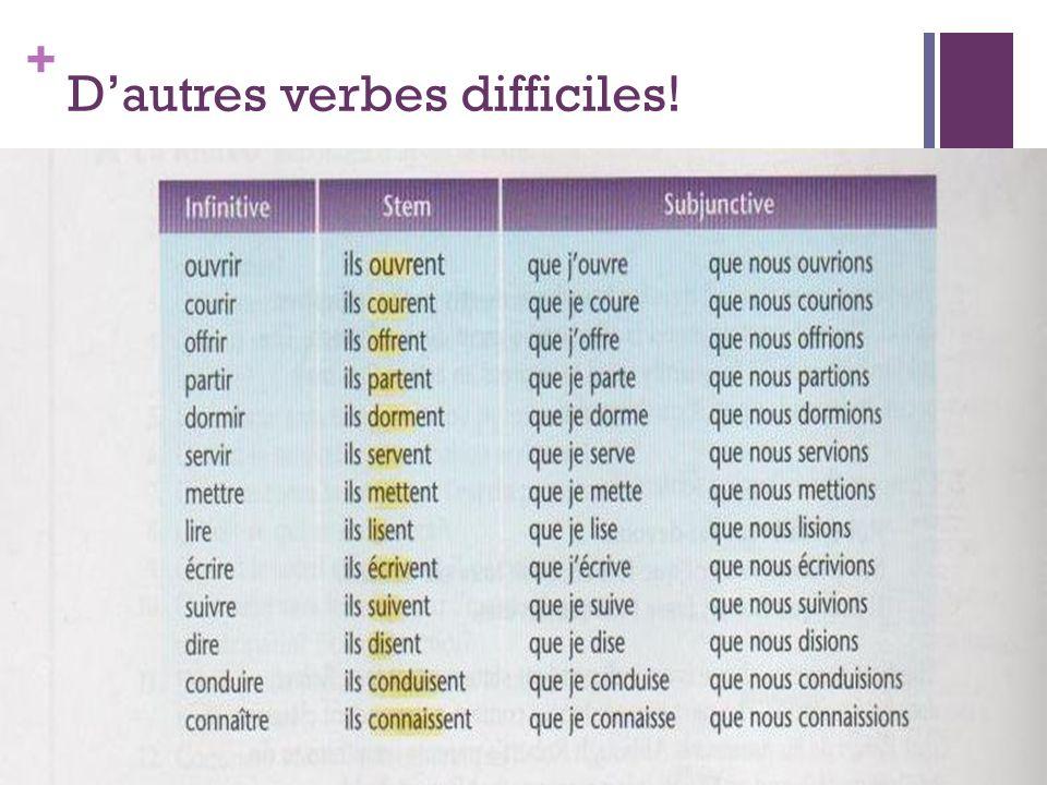D'autres verbes difficiles!
