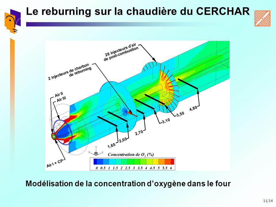 Le reburning sur la chaudière du CERCHAR