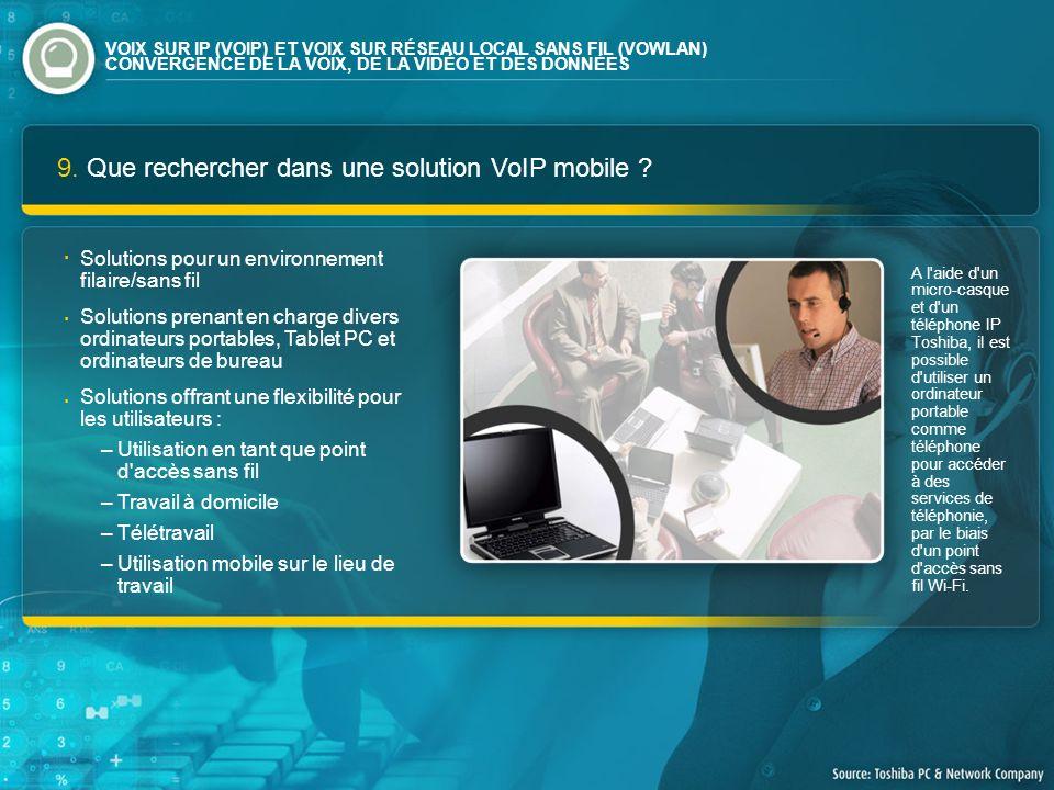 9. Que rechercher dans une solution VoIP mobile